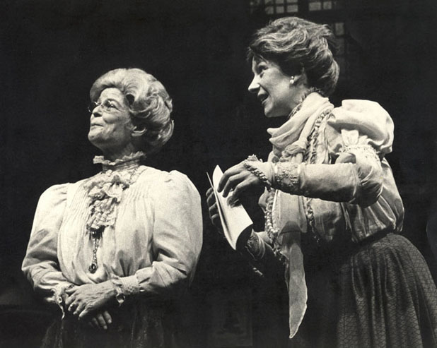 Joy Coghill and Janet Brechin<br>in <i>Arsenic and Old Lace</i> (1977)<br>Photo by David Cooper<br>
