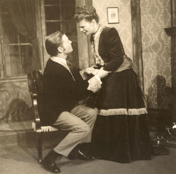 Joy Coghill with Ron Wilson in <i>Ghosts</i> (1951)<br>