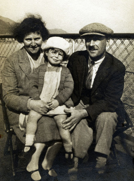 Joy Coghill with her Parents<br>